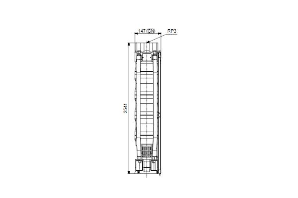 Габаритный чертеж насосов SP 46-20