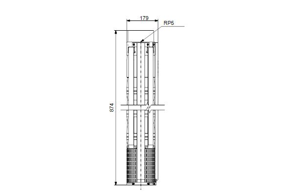 Габаритный чертеж насосов SP 77-3