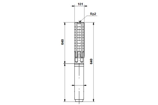 Габаритный чертеж насосов SP 14A-7