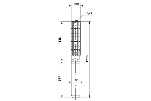 Габаритный чертеж насосов SP 9-18NE