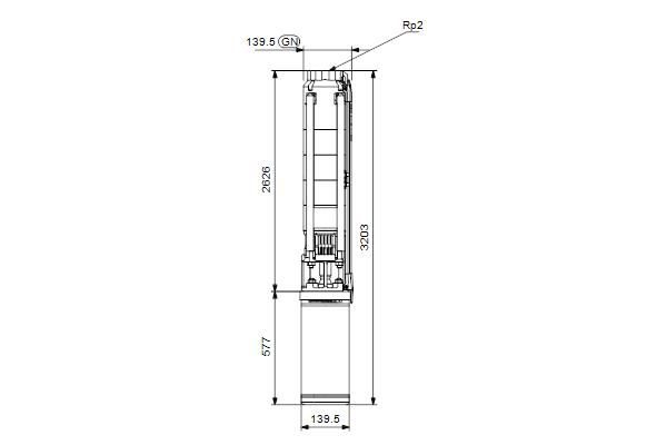 Габаритный чертеж насосов SP 14-31N