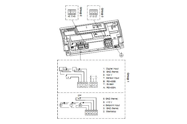 Схема подключений насосов NBE 40-250/260 A-F-A-GQQE