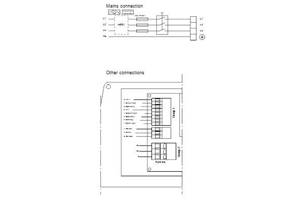 Схема подключений насосов NBE 50-200/219 A-F-A-GQQE