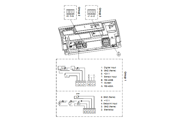 Схема подключений насосов NBE 65-200/219 A-F-A-GQQE