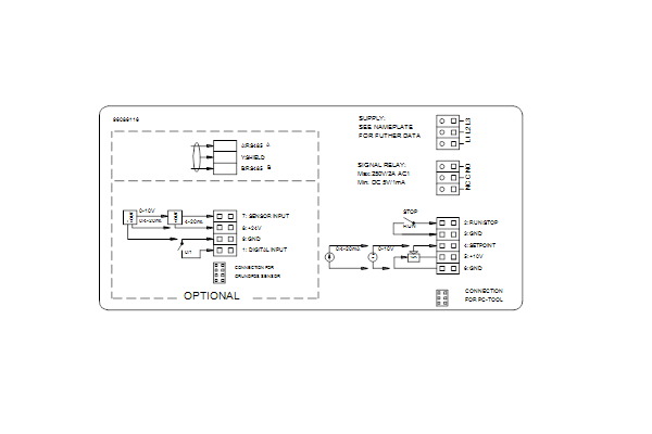 Схема подключений насосов NBE 100-200/195 A-F-A-GQQE