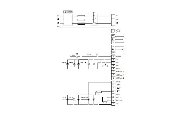 Схема подключений насосов NBE 32-125/130 A-F2-A-E-GQQE