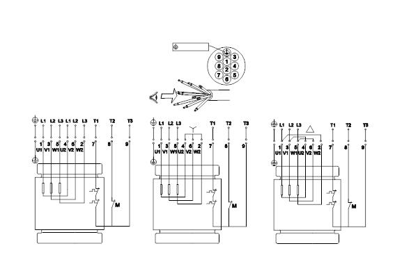 Схема подключений насосов SL1.100.100.55.EX.4.51D.C