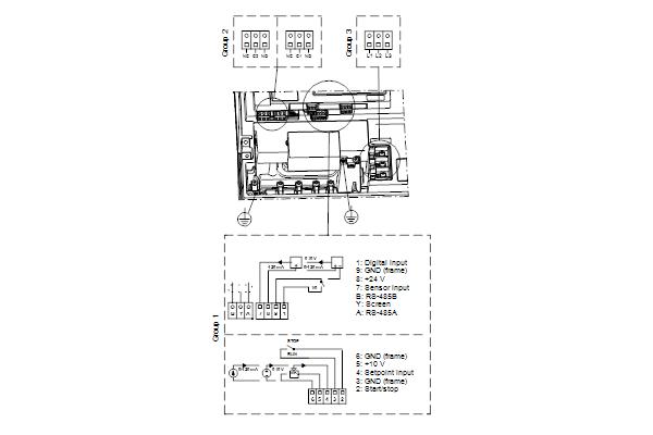 Схема подключений насосов NBE 50-200/198 A-F2-A-E-BQQE