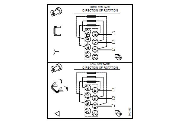 Схема подключений насосов TPD 50-60/4 A-F-A-BQQE