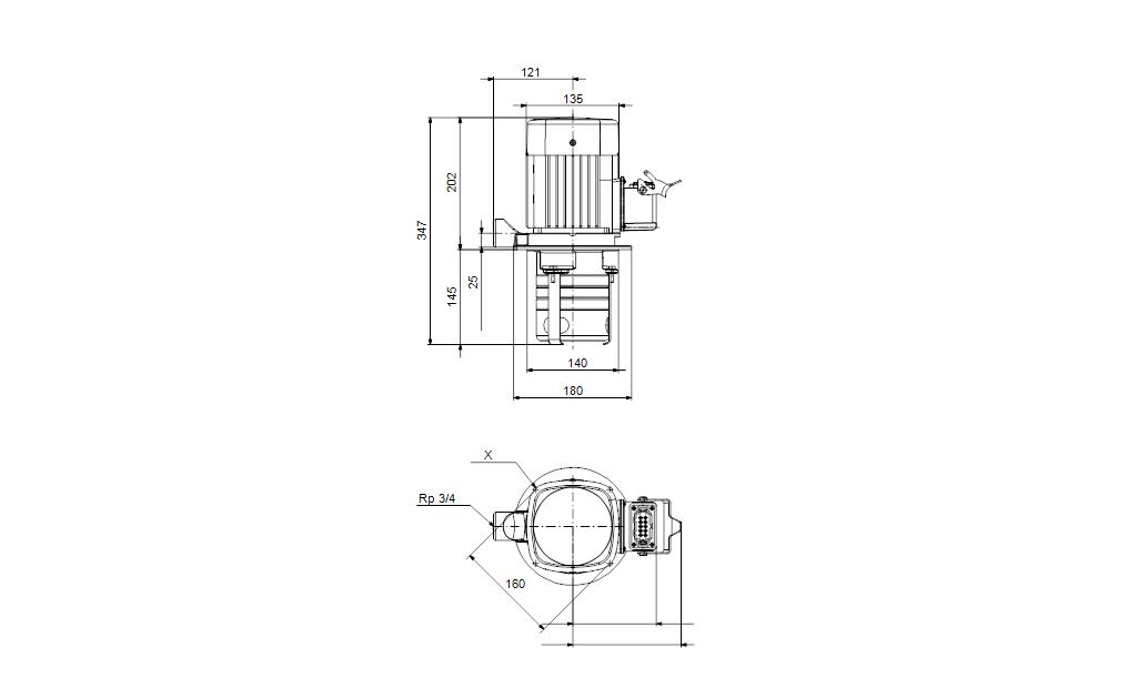 Grundfos MTH2-30/3 A-W-A-CVBV Vertical Centrifugal Pump